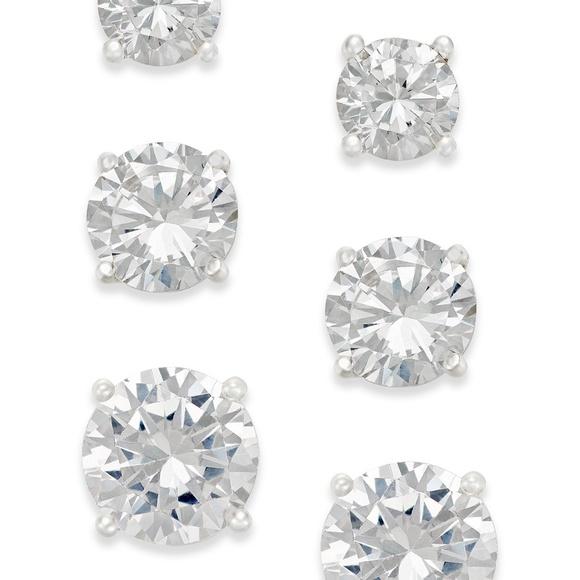 5310a4d64 Giani Bernini Jewelry | Cubic Zirconia Stud Earring Set Sterling ...